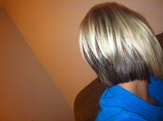 Blonde bob with brown underneath!  Wanna do!