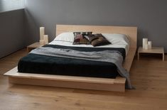 Low Wood Japanese Style Platform Bed Frame With Minimalist Design