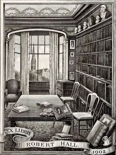 1902 Bookplate ~ Artful Bookplates makes such a personal & beautiful addition to a book collection
