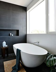 Grey tiled bathroom ideas full size of bathroom tile ideas gray and white bathroom grey bathrooms grey wood grain tile bathroom ideas Gray And White Bathroom, Grey Bathrooms, Beautiful Bathrooms, Black Bath, Charcoal Bathroom, Slate Bathroom, Silver Bathroom, Bathroom Renos, Laundry In Bathroom