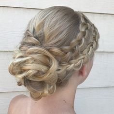 Double Dutch braided with updo hairstyle ideas Updo Prom hairstyle updo hairstyles for prom - HairStyles Long Hair Braided Hairstyles, Indian Bridal Hairstyles, Braids For Long Hair, Bride Hairstyles, Hairstyle Ideas, Updo Hairstyle, Braids Easy, Hair Ideas, Hairstyle Images