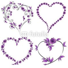 Rose tatuaggio heart and roses tattoo vector bluedarkat 33103429 Galleries Cuore Ali Spada Americo Tattoo Laq. Purple Heart Tattoos, Purple Flower Tattoos, Heart Tattoos With Names, Lila Tattoos, Name Tattoos, Body Art Tattoos, Rosen Tattoo Klein, Unique Tattoos, Small Tattoos