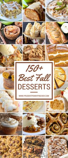 150 Best Fall Dessert Recipes Try one of these mouthwatering fall desserts that are bursting with fall flavors like pumpkin, apple, cinnamon, maple, caramel and much more! Fall Dessert Recipes, Thanksgiving Desserts, Fall Desserts, Fall Recipes, Delicious Desserts, Yummy Food, Cheap Recipes, Yummy Recipes, Holiday Recipes