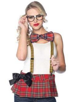 9f61baa40 Unisex Nerd Costume Kit Leg Avenue Sexy Nerd Kit 1930 three piece Nerd  Package comprises suspenders