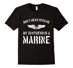 Proud Marine Girlfriend Military Soldier Love Gifts T-Shirt
