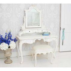 Provencal Grande White Dressing Table | Dressing Table - Shabby Chic French Dressing Table - French Bedrooms