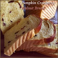 My Mind Patch: Pumpkin Cranberry Walnut Yeast Loaf 南瓜蔓越莓核桃吐司 Cranberry Walnut Bread, Pumpkin Cranberry Bread, Soft Bread Recipe, Japanese Milk Bread, Yeast Starter, Bread Maker Recipes, Bread Art, Sweet Pastries, Sweet Bread