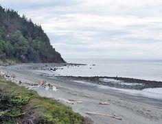 beach near Point Wilson Lighthouse