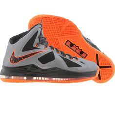 Nike LeBron X (charcoal / orange) 541100-002 - $179.99