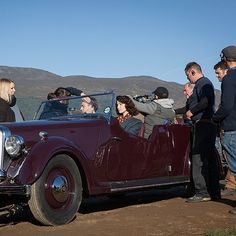 A classic car for our classy couple. #RoverP2 #OutlanderSeries #STARZ from Outlander_Starz instagram