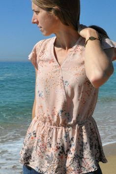 Free PDF sewing pattern from Wardrobe BY Me. The Hera summer shirt and wrap top PDF sewing pattern. Try a high quality free pattern in sizes 0-20 / 30-50.