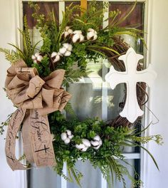 Spring Door Wreaths, Easter Wreaths, Holiday Wreaths, Mesh Wreaths, Halloween Wreaths, Sunflower Burlap Wreaths, Floral Wreaths, Cross Wreath, Special Holidays