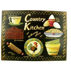 Vintage Style Country Kitchen Metal Sign | Overstock.com