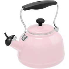 Chantal Tea Kettle 37-Vint Pn found on Polyvore featuring home and kitchen & dining
