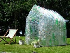 Greenhouse made from plastic bottles. Probably too advanced for me, but I thought it was a great idea!