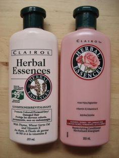 This is what Herbal Essences bottles looked like when i was growing up.. And it smelled AMAZING!!! and there weren't 10 kinds to choose from :)