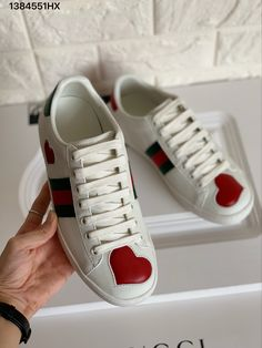 11bb5f8450a Gucci ace sneakers heart white leather shoes top