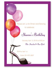 Party Balloons Invitations - Bonnie Marcus (#119436) | FineStationery.com