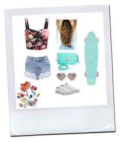 """summer"" by nicole-wu03 ❤ liked on Polyvore featuring Converse, BCBGMAXAZRIA, Miss Selfridge and Wildfox"
