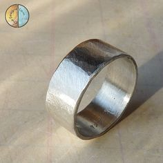 Forged Wide Sterling Silver Band Handmade Ring by Che4uDesigns, $54.00
