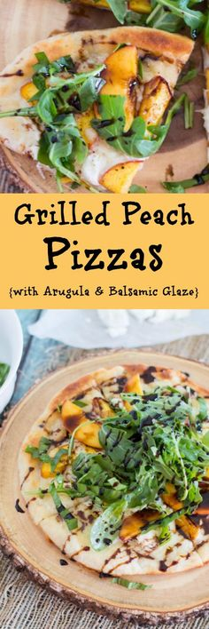 Fire up the grill and grab your best summer produce for this tasty Balsamic Glazed Grilled Peach Pizza recipe! Not only are we grilling the pizza, but the peaches too. Top it all off with spicy arugula and sweet balsamic glaze for the perfect summer-inspi