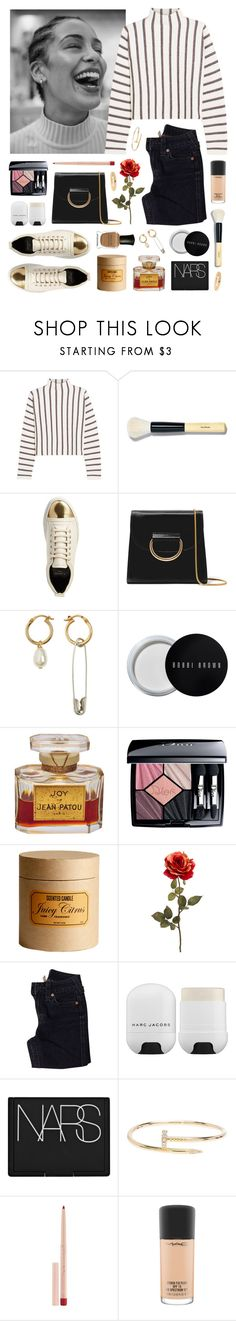 """Basilik"" by sophiehackett ❤ liked on Polyvore featuring Maje, Bobbi Brown Cosmetics, Lanvin, Little Liffner, Deborah Lippmann, Christian Dior, H&M, True Religion, Marc Jacobs and NARS Cosmetics"