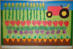 farm theme preschool bulletin board ıdeas « Preschool and Homeschool Garden Bulletin Boards, Preschool Bulletin Boards, Classroom Bulletin Boards, Classroom Ideas, Fall Preschool, Preschool Projects, Preschool Activities, Kids Crafts, Vegetable Crafts