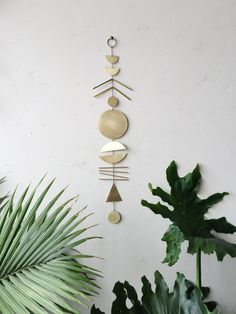 Made to order // Geometric brass wall by ELECTRICSUNCREATIVES