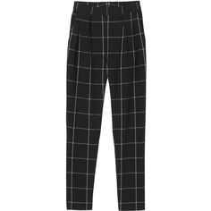 Monki Simone check trousers (€15) ❤ liked on Polyvore featuring pants, bottoms, trousers, jeans, cheery check, checked pants, checkered pants, monki, checked trousers and checkerboard pants