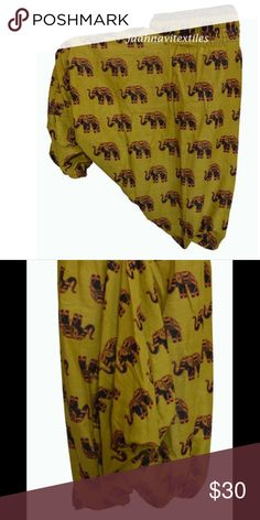 ELEPHANT Heram Pant Item details Festival Pants Yog Hippie Pants Boho Elephant Pants Olive Yellow- Women  Beautiful Harem Pants made of 100%rayon fabric. The pants hold the shape and are comfortable and soft.  Warning : Color may vary from the picture a little bit as each computer may have different brightness set up. unknown Pants