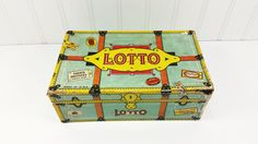 Old Lotto Game in Box, Parker Brothers Lotto 3840383, Wooden Lotto Numbers by naturegirl22 on Etsy