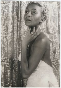 """Joyce Bryant is one of the reasons I couldn't wait to get Vintage Black Glamour in book form. This photograph was taken by Carl Van Vechten on May 28, 1953 at the height of her career. Even with her undeniable soprano (with a 4 octave range) the focus was on her sexy image. Once dubbed the """"black Marilyn Monroe,"""" constant mentions in Walter Winchell's gossip column made her a star and she was widely considered the first dark-skinned Black woman to be considered a sex symbol inside and ..."""