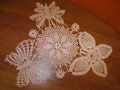 Free Crochet Doily Pattern  With Butterflies Circular