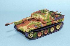 Download Panther G type tank papercraft model