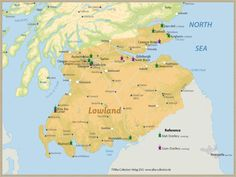 Whisky Regions of Scotland · Chart 10: Region Lowland (Malt Distilleries (working/ Grain working)) www.alba-collecti...