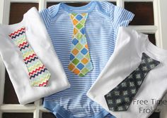 Diy Toddler boy t-shirt and Onesie necktie Tutorial. Easy Sewing tutorial for a baby boy onesie neck tie. Pattern and instructions included.