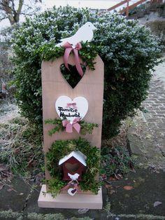Tür- & Namensschilder - XXL Türschild-Dekosäule mit Namen der Familie - ein Designerstück von Sternenglanz-Clemens bei DaWanda
