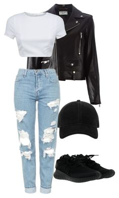 """Untitled #210"" by nikib129 ❤ liked on Polyvore featuring Yves Saint Laurent, Topshop, AQ/AQ, rag & bone and adidas"