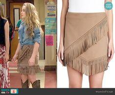 Maya's suede fringed skirt on Girl Meets World.  Outfit Details: http://wornontv.net/52938/ #GirlMeetsWorld