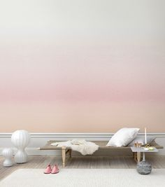 perfect for a bedroom sunrise/sunset sky wallpaper mural #ombre from sandbergab.com