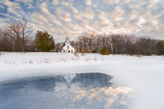 Winter Reflections of Mission Point