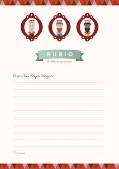 Carta de los Reyes Magos para imprimir de Cuadernos Rubio