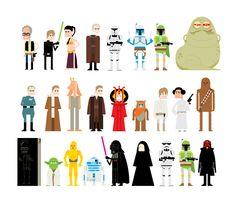 Star wars 35th annyversary by Carlos Monteiro, via Behance