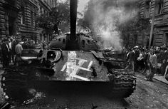 On this day, in August The invasion of the Warsaw Pact forces in Czechoslovakia - 500 thousand military, 800 aircraft, tanks and armored personnel carriers. Prague Cz, Visit Prague, Prague Spring, Days In August, Book Burning, Magnum Photos, Warsaw, Cold War, Military History