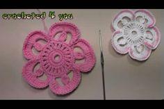 How Irish crochet flower lovely 3