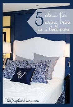 Using Wood Trim to add Interest to a Bedroom!