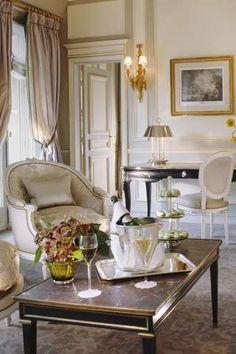 My Paris Apartment French Interior, Interior Design, Piscina Hotel, Le Meurice, Paris Design, Paris Apartments, Tiny Spaces, Elegant Homes, Beautiful Interiors