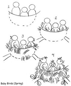 how to draw a bird nest inkspired musings: Birds, Birds, and more Birds!
