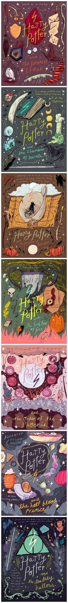 I think this is cool versions of each Harry Potter book.