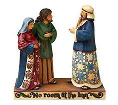 Jim Shore Heartwood Creek Mary and Joseph No Room at the Inn